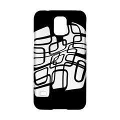 White abstraction Samsung Galaxy S5 Hardshell Case