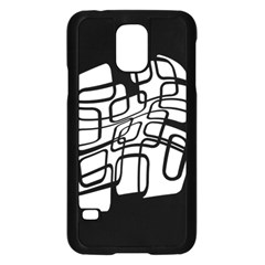 White abstraction Samsung Galaxy S5 Case (Black)