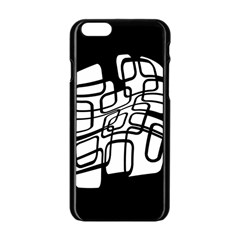 White abstraction Apple iPhone 6/6S Black Enamel Case