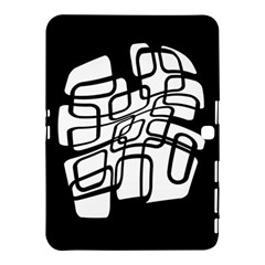 White abstraction Samsung Galaxy Tab 4 (10.1 ) Hardshell Case