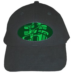 Green abstraction Black Cap