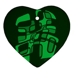 Green abstraction Ornament (Heart)