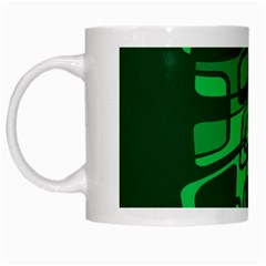 Green abstraction White Mugs