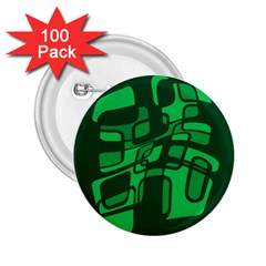 Green abstraction 2.25  Buttons (100 pack)