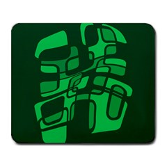 Green abstraction Large Mousepads