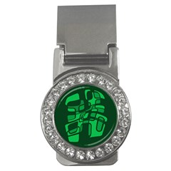 Green abstraction Money Clips (CZ)