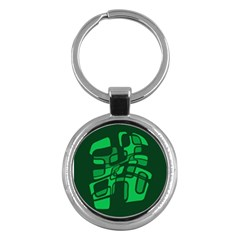 Green abstraction Key Chains (Round)