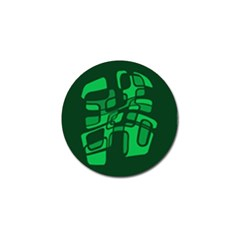 Green abstraction Golf Ball Marker