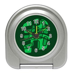 Green abstraction Travel Alarm Clocks