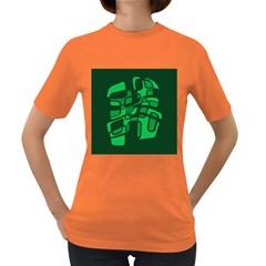 Green abstraction Women s Dark T-Shirt