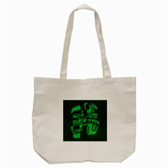 Green abstraction Tote Bag (Cream)
