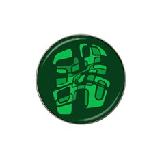 Green abstraction Hat Clip Ball Marker (4 pack)