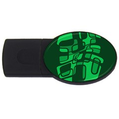 Green abstraction USB Flash Drive Oval (4 GB)