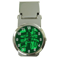 Green abstraction Money Clip Watches