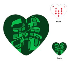 Green abstraction Playing Cards (Heart)