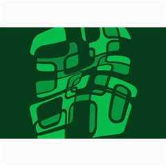 Green abstraction Collage Prints