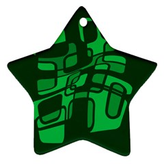 Green abstraction Star Ornament (Two Sides)