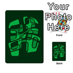 Green abstraction Multi-purpose Cards (Rectangle)