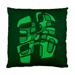 Green abstraction Standard Cushion Case (Two Sides)