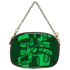 Green abstraction Chain Purses (Two Sides)