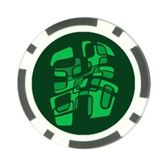 Green abstraction Poker Chip Card Guards (10 pack)