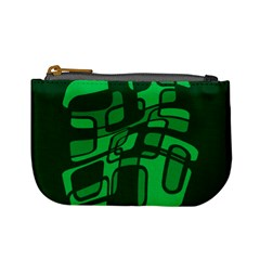 Green abstraction Mini Coin Purses