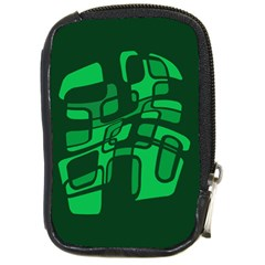 Green abstraction Compact Camera Cases