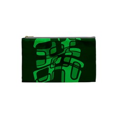 Green abstraction Cosmetic Bag (Small)