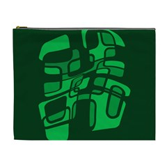 Green abstraction Cosmetic Bag (XL)