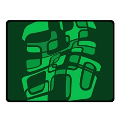 Green abstraction Fleece Blanket (Small)