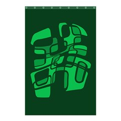 Green abstraction Shower Curtain 48  x 72  (Small)