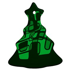 Green abstraction Ornament (Christmas Tree)