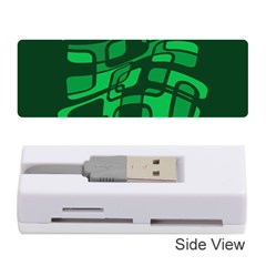 Green abstraction Memory Card Reader (Stick)
