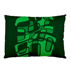 Green abstraction Pillow Case (Two Sides)