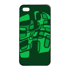Green abstraction Apple iPhone 4/4s Seamless Case (Black)