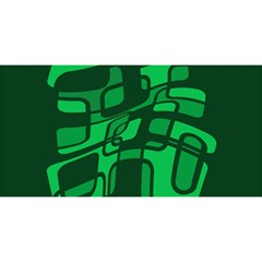 Green abstraction YOU ARE INVITED 3D Greeting Card (8x4)