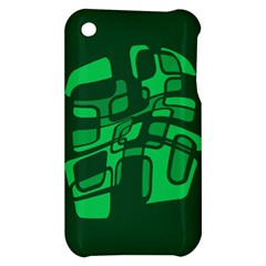 Green abstraction Apple iPhone 3G/3GS Hardshell Case
