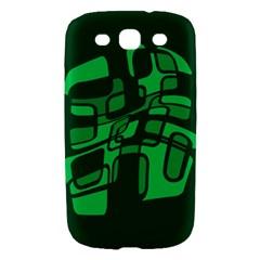 Green abstraction Samsung Galaxy S III Hardshell Case