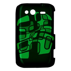 Green abstraction HTC Wildfire S A510e Hardshell Case