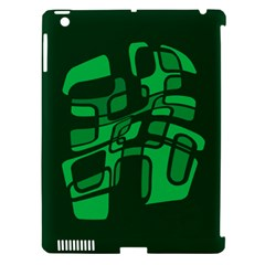Green abstraction Apple iPad 3/4 Hardshell Case (Compatible with Smart Cover)