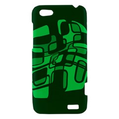Green abstraction HTC One V Hardshell Case