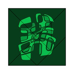 Green abstraction Acrylic Tangram Puzzle (6  x 6 )