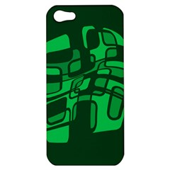 Green abstraction Apple iPhone 5 Hardshell Case