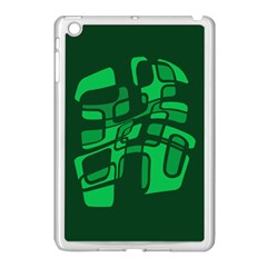 Green abstraction Apple iPad Mini Case (White)
