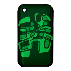 Green abstraction Apple iPhone 3G/3GS Hardshell Case (PC+Silicone)