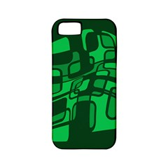 Green abstraction Apple iPhone 5 Classic Hardshell Case (PC+Silicone)