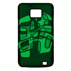 Green abstraction Samsung Galaxy S II i9100 Hardshell Case (PC+Silicone)