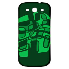 Green abstraction Samsung Galaxy S3 S III Classic Hardshell Back Case