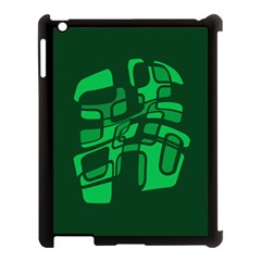 Green abstraction Apple iPad 3/4 Case (Black)