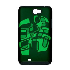 Green abstraction Samsung Galaxy Note 2 Hardshell Case (PC+Silicone)